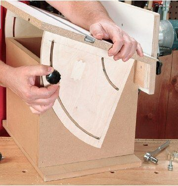 Completing tilting router table assembly