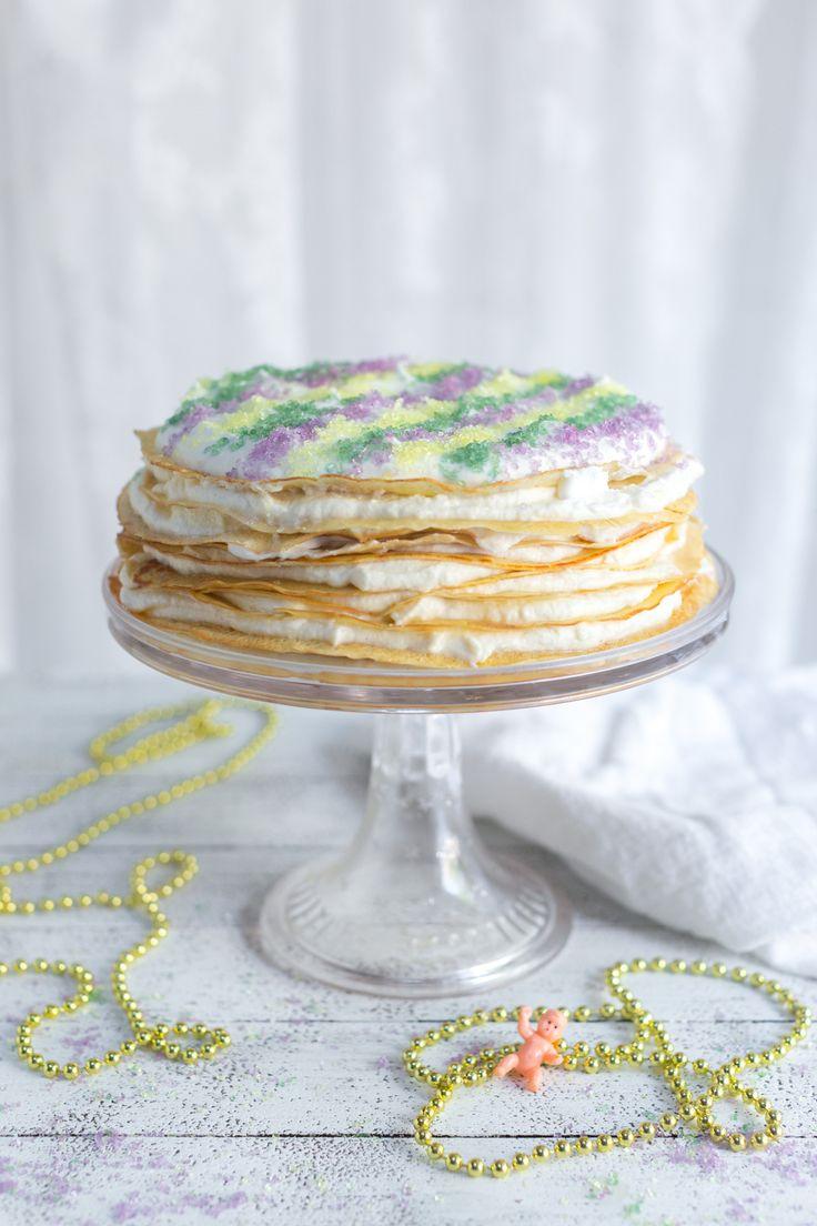 Crepe King Cake by Baking The Goods     @beckysuebakes     bakingthegoods.com