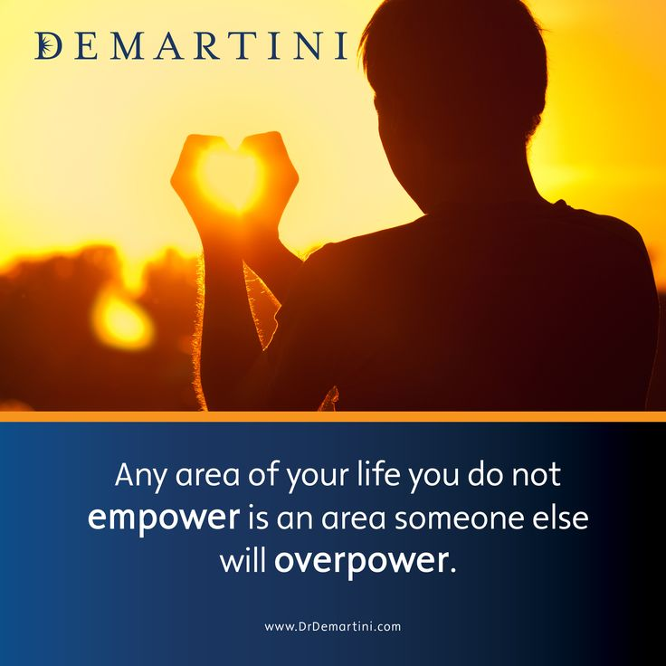 Any area of your life you do not empower is an area someone else will overpower. Dr John Demartini www.DrDemartini.com www.Facebook.com/DrJohnDemartini