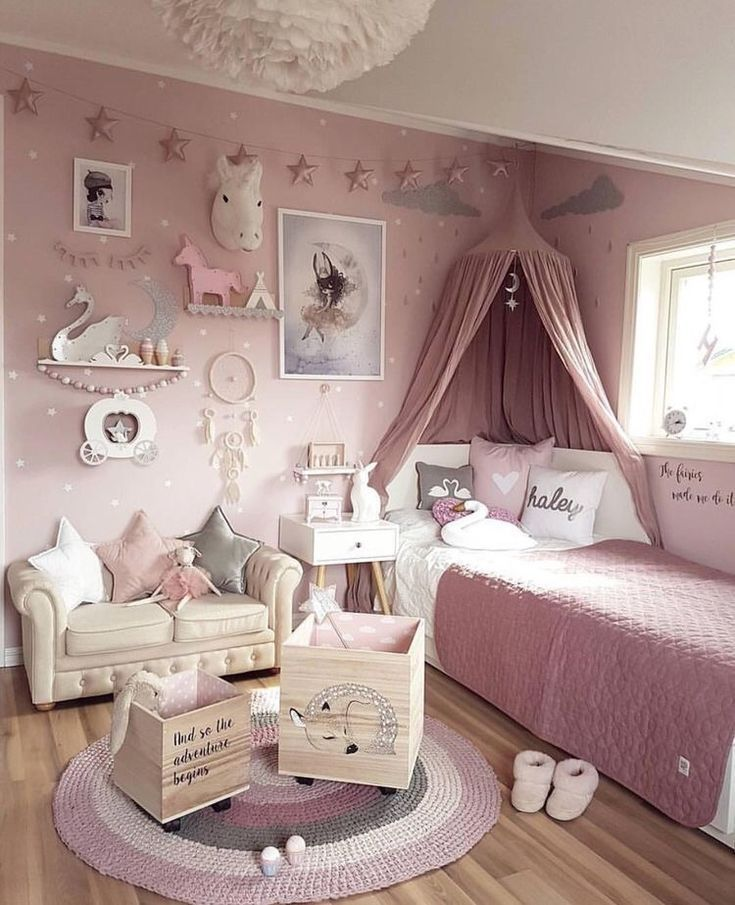The Proper Room For Little Princesses Distinctive Homedesign Homedesign Little Perfect P Deco Chambre Fillette Deco Chambre Princesse Deco Chambre Enfant