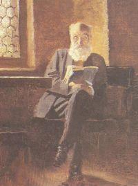 Mednyánszky Ede a nagyőri kastélyban  Mednyánszky László festménye