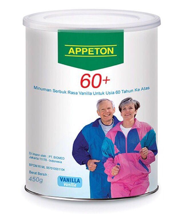 APPETON 60+ 450gr & 900gr ❤️ LOVE YOUR ELDERLY AND PROVIDE HEALTHIER LIFESTYLE! ⛳️ Appeton 60+ solusi untuk orang tua yang sulit makan. sudah bernutrisi tinggi, mudah di serap tubuh dan aman di konsumsi orang tua sehingga tetap fit , dan bertenaga dan tidak mudah sakit.  Untuk pemesanan:,☎ Pemesanan:☎021 5366 1111 / 0838 9999 5454 Whatsapp: 083899995454 FB: appetonindonesia Twitter: appetonid Line: appetonindonesia Pin BB: 58AB574B FB: Appeton Indonesia