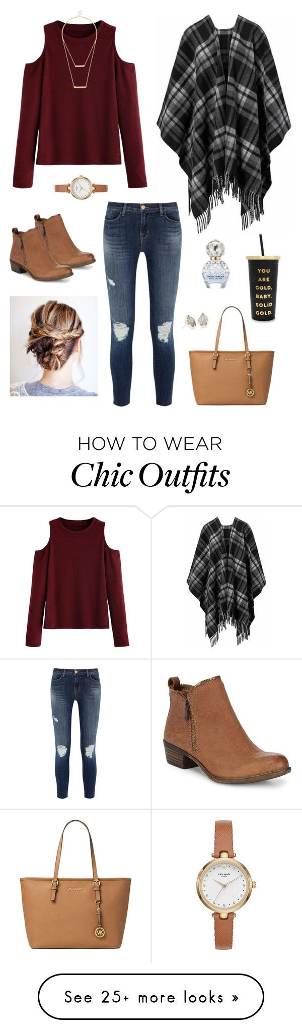 """""""More of a fall look but I still love it """" by yoitsrachel on Polyvore featuring ban.do, WithChic, J Brand, MICHAEL Michael Kors, Lucky Brand, Kate Spade, Sole Society, Kendra Scott and Marc Jacobs"""