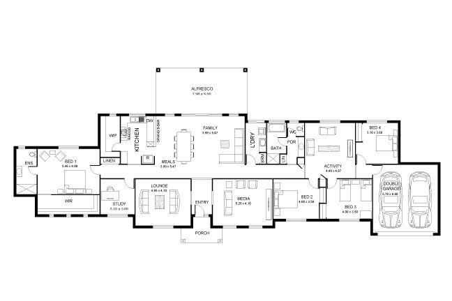 Grange 38 house plans pinterest house and modern for Acreage house plans