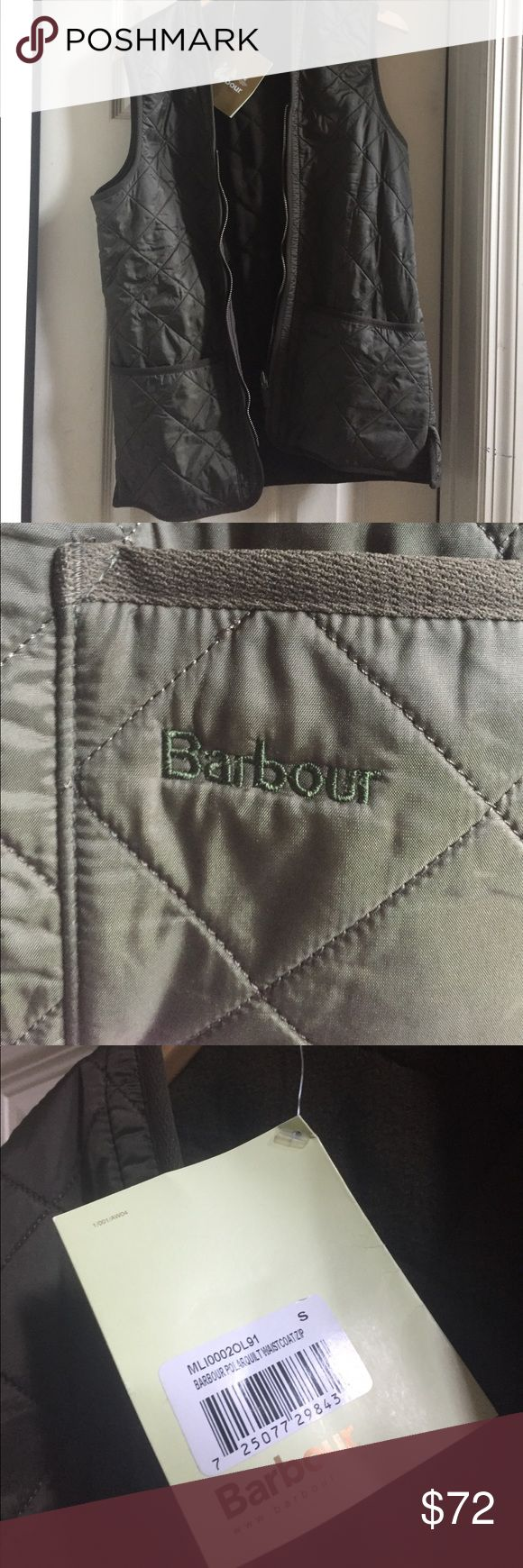 NEW WITH TAGS BARBOUR VEST Beautiful olive green Barbour vest! Barbour Jackets & Coats Vests