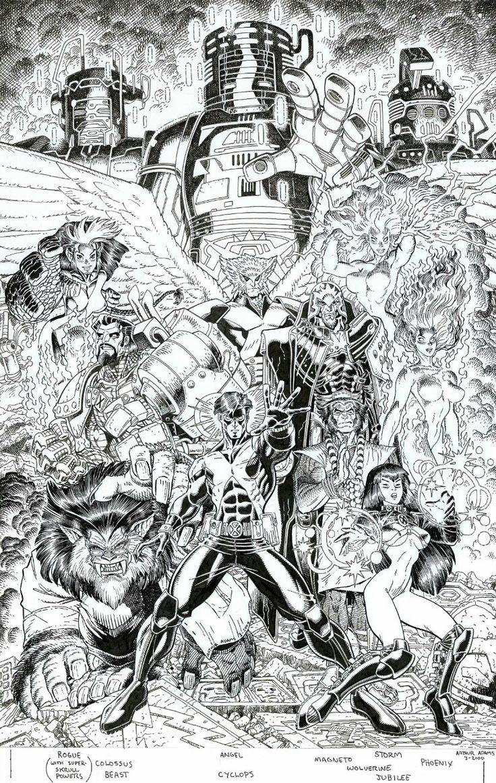 ungoliantschilde:  Arthur Adams - X-Men Millenial Visions PinUp