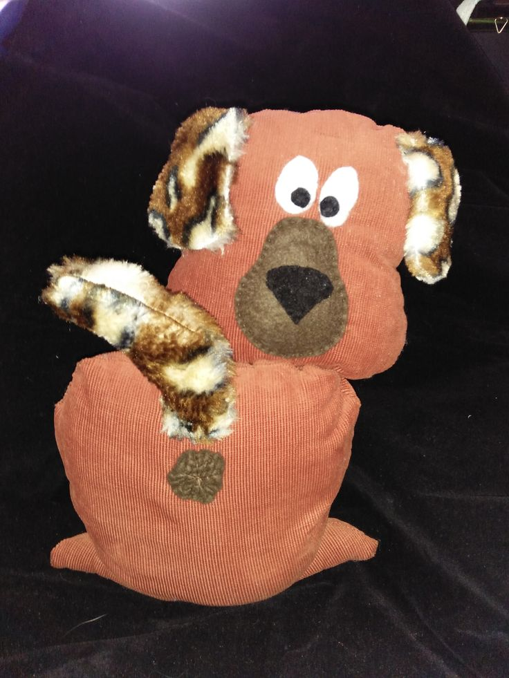 """Butt Ugly Dog Doorstop """"Patches"""" $25"""