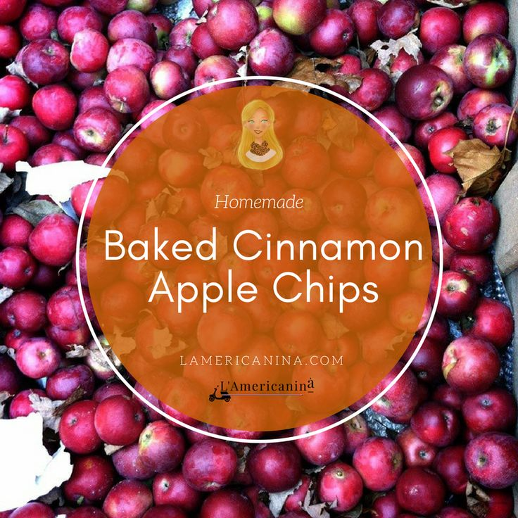 Baked Cinnamon Apple Chips Recipe | L'Americanina | Baked Cinnamon Apple Chips are the perfect healthy snack to make. They are surprisingly so easy to make and you don't need to own a dehydrating machine. I'm sure they'll be an instant hit in your kitchen