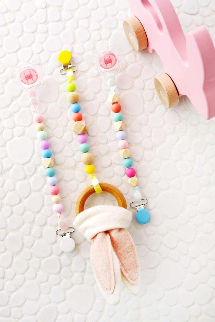 9 DIY Beißringe und Greiflinge für Babys