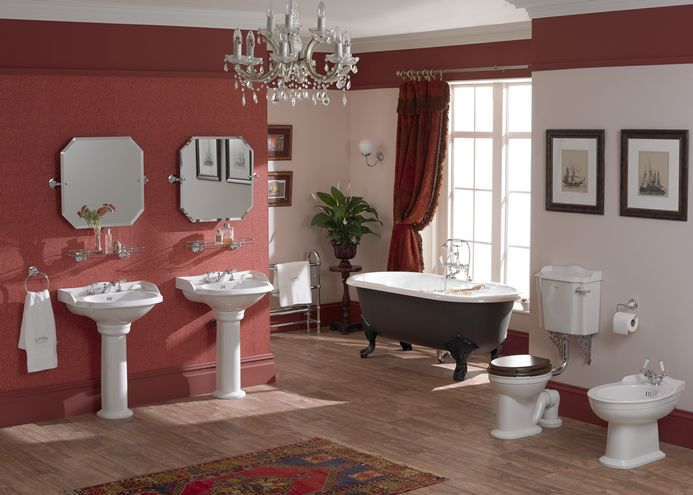 Rich Colours And Authentic Detailing Give Real Impact To This Traditional Bathroom