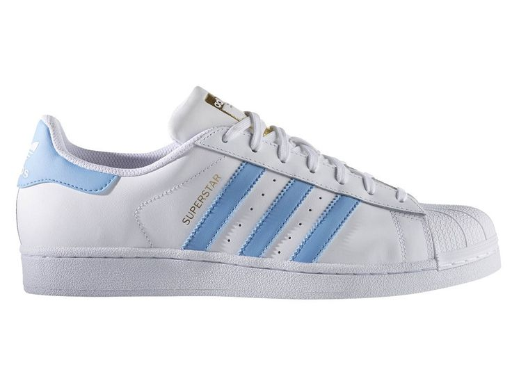 adidas superstar light blue stripes