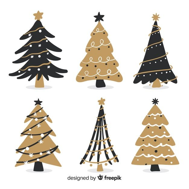 Download Hand Drawn Christmas Tree Collection For Free Christmas Tree Drawing Christmas Cards Handmade Christmas Tree Collection