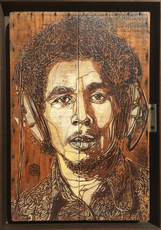 *Bob Marley* More fantastic paintings, pictures and videos of *Bob Marley* on: https://de.pinterest.com/ReggaeHeart/ ©C215/ c215.fr