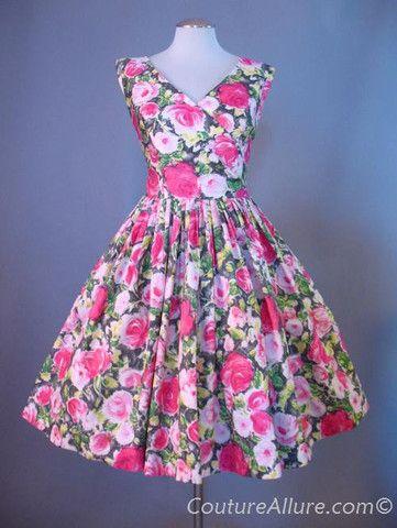 Vintage 50's Full Skirt Dress.