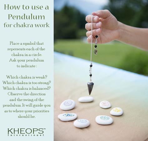How to use a pendulum for chakra work! www.kheopsinternational.com