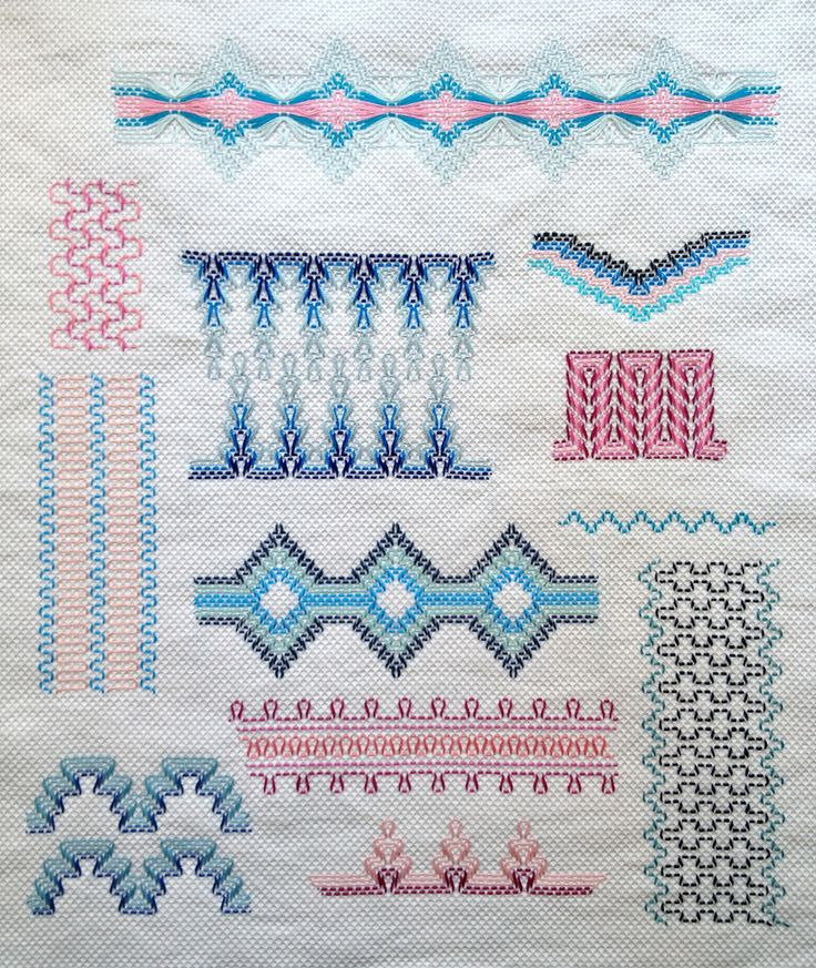 Huck Weaving Sampler (set on Flickr with book pages ). blog: http://button-button.co.uk/huck-sampler-fo-11-to-go/