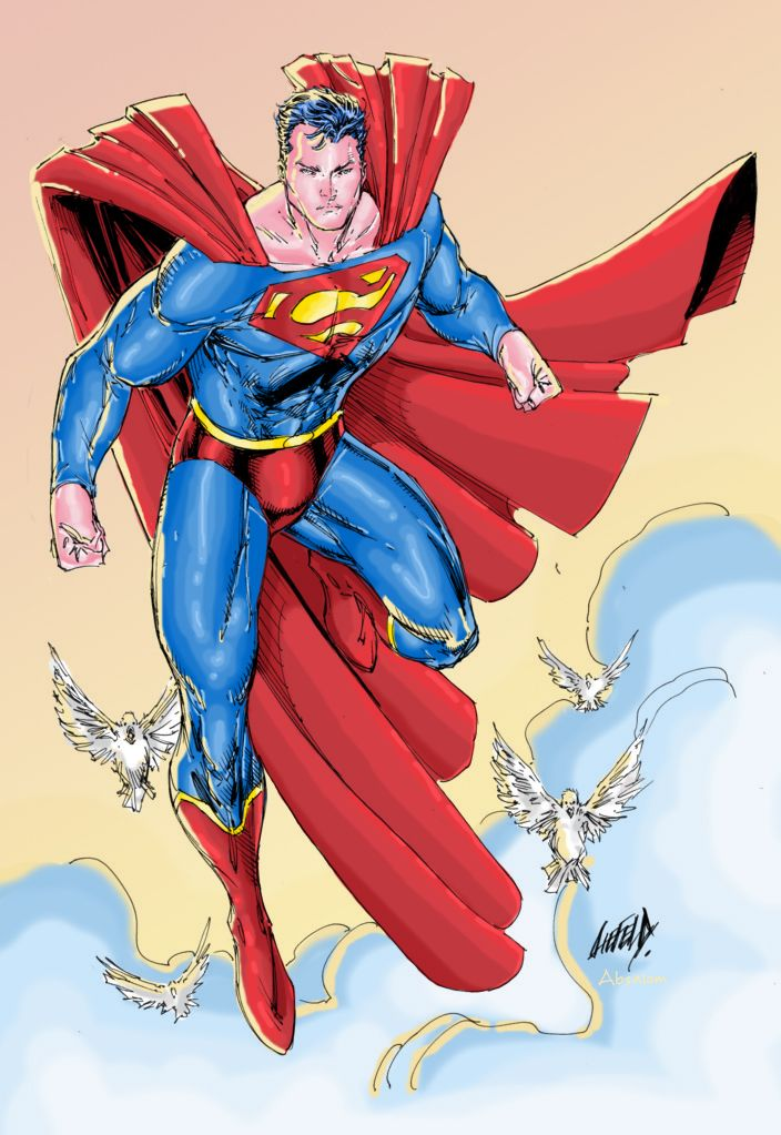 Superman by Rob Liefeld, colors by Absalom7