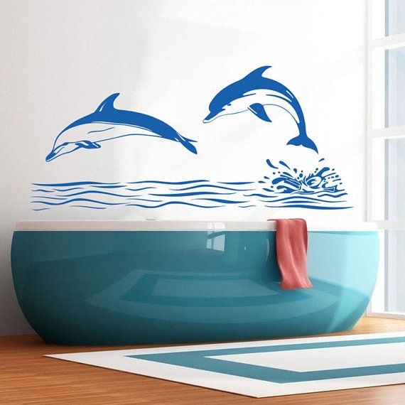 38 best dolphins images on pinterest dolphins common for Dolphin bathroom design