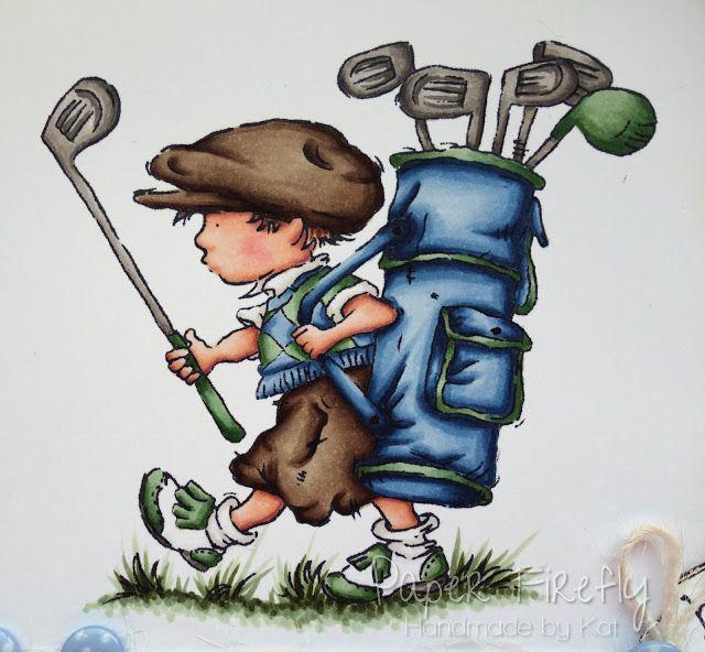 Male card design featuring LOTV golfer