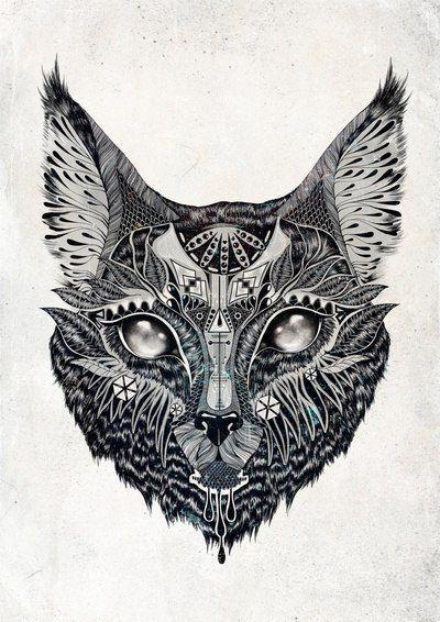 Moden Cat Tattoo Design - InkedCollector
