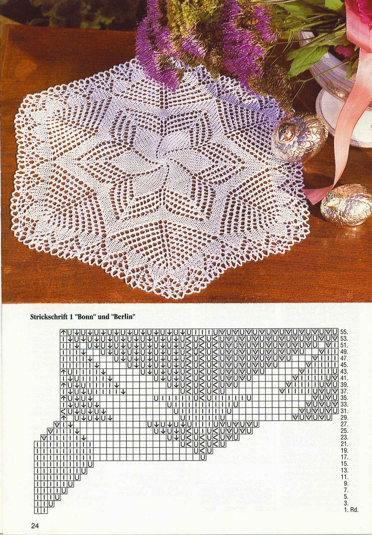 Kira knitting: Scheme knitted tablecloths 5