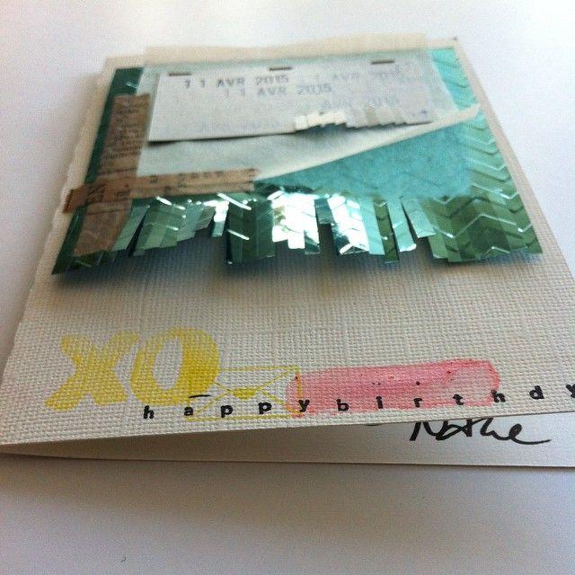 birthday card materials: XO Stamp | Papierprojekt happy birthday stamp | Studio Calico Gelatos | Faber Castell