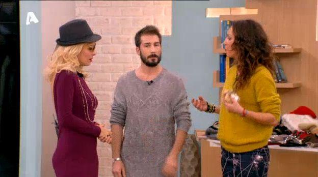 """Winter styling tips by Katerina Manolaraki & Christos Kalliarekos. At """"Eleni"""", Alpha Tv"""