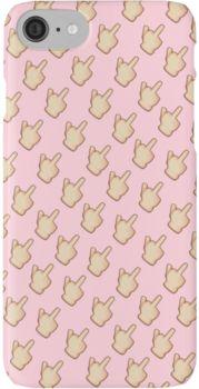 Middle finger emoji case iPhone 7 Cases