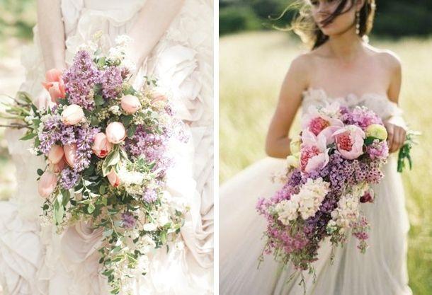 25 Cascade/Trailing Wedding Bouquets--LOVING CASCADE BOUQUETS