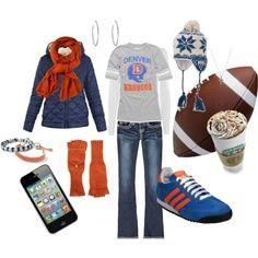Denver Broncos outfit for women