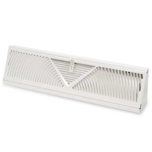 "18"" White Baseboard Diffuser (406 Series)"