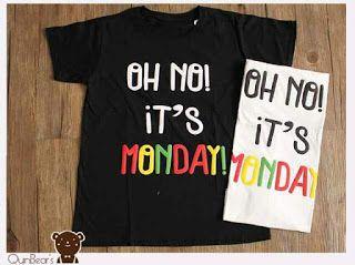 ssfashionkaos: Kaos Quin'bears - Kaos Big Oh No Monday - XL