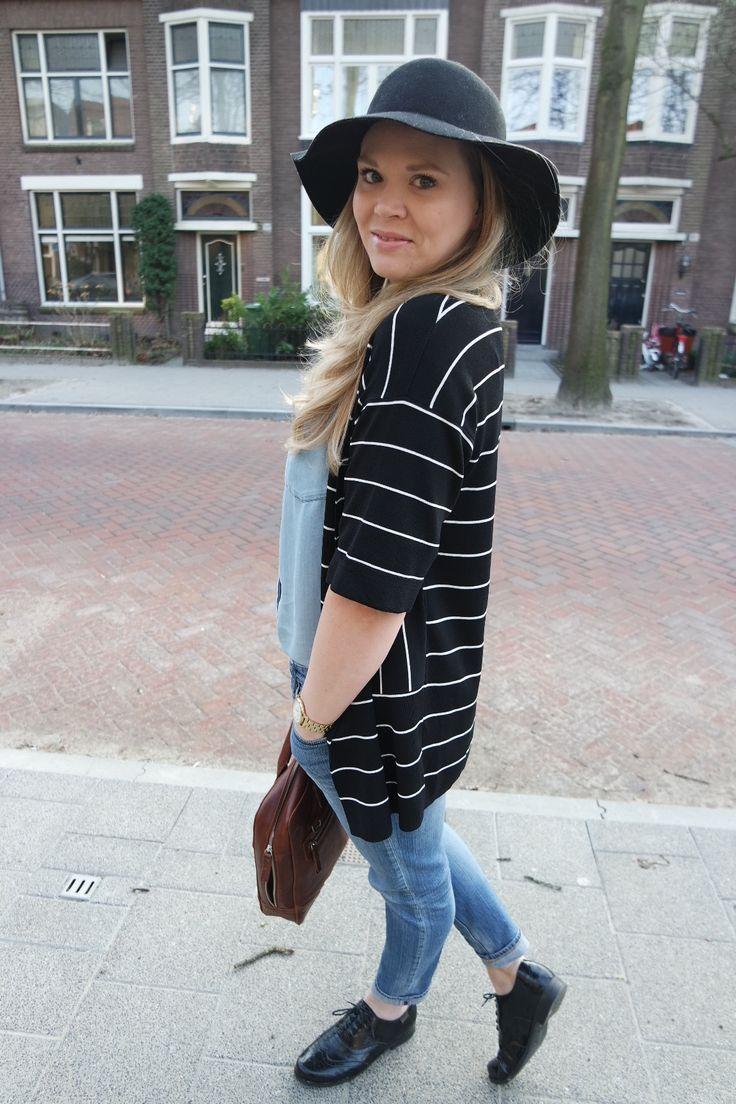 zwart wit gestreept vest styled by amalou | www.lamemechose.nl