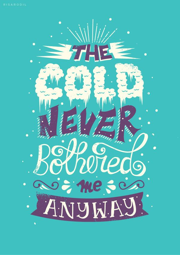 Frozen movie tyopgraphy Frozen Movie Dialogues Typography by Risa Rodil