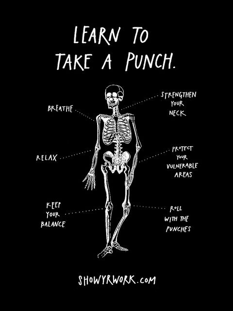 """Learn To Take A Punch"" Poster from Show Your Work! by Austin Kleon http://showyrwork.com"