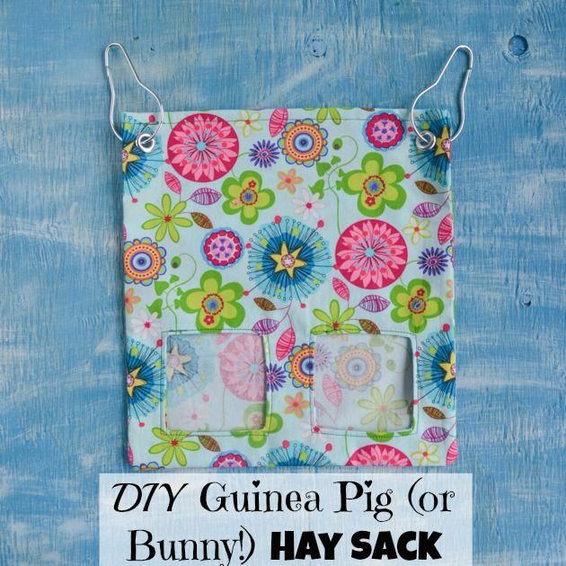 How to Make a Fabric Guinea Pig (or Bunny!) Hay Sack/Bag Tutorial