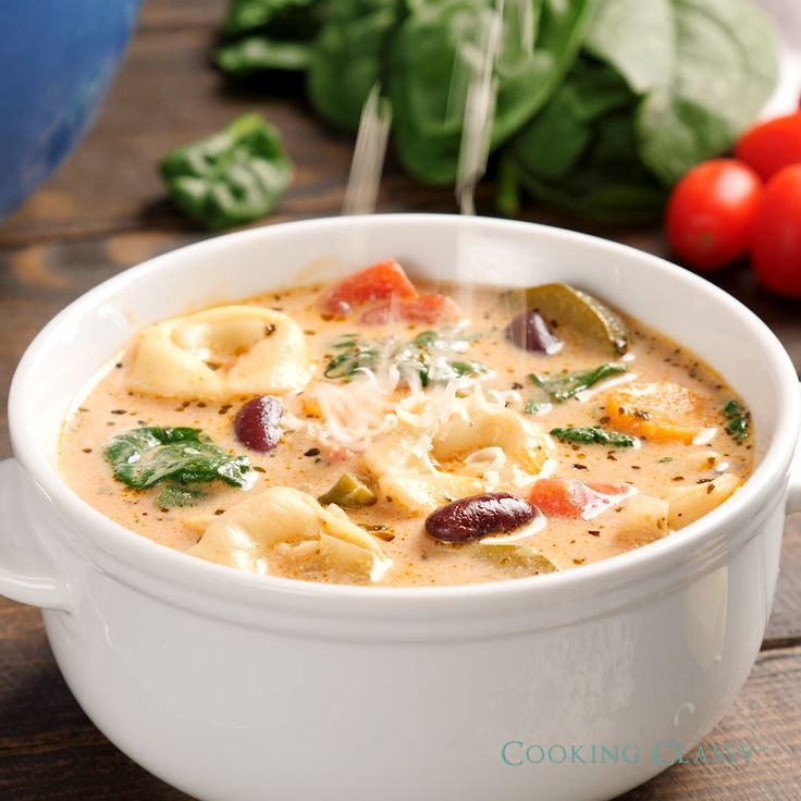 Creamy Tortellini Minestrone