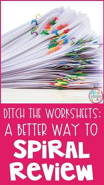 Great ideas for reviewing and test prep without using worksheets! Keep it fun and simple!
