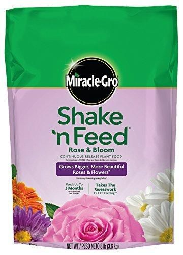Miracle-Gro Shake 'n Feed Continuous Release Rose and Bloom Plant Food 8-Pound (Slow Release Plant Fertilizer)