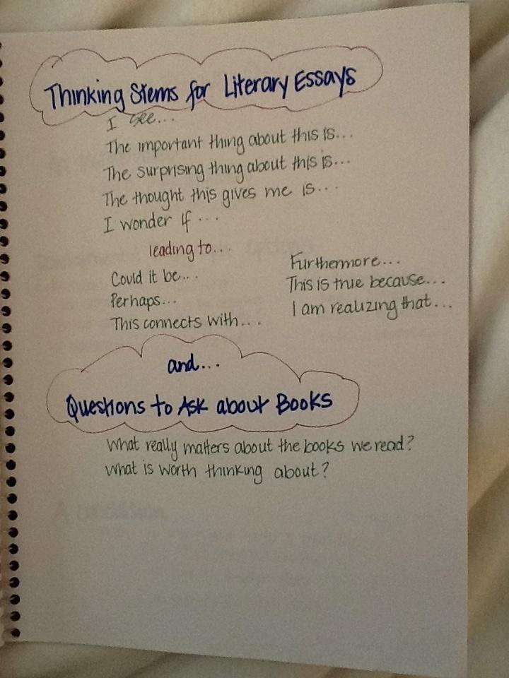 Literary essays calkins