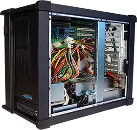 We were requested for a dual power supply system in a rugged portable chassis, we modified our existing product Titan-T95 to keep only what our customer needed.  For custom engineering of different chassis : http://www.trans2000.com/oem-odm-services/  #portable_computer #rackmount #custom_engineering #OEM_ODM