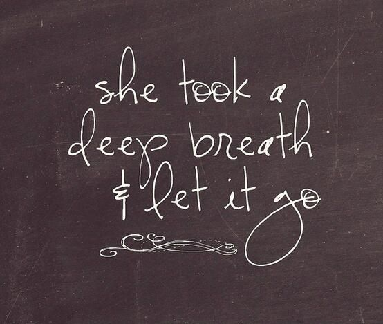 She took a deep breath, and she let it go. Told her self to chase her dreams and its her turn!