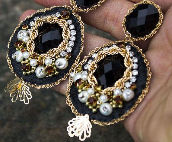 Blush pendientes pendientes de araña Blush Bridal novia por zalotti