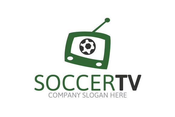 Soccer Tv Logo by Josuf Media on Creative Market