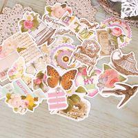 2016 handmade fragile pre-taglio cartone titoli/tag/citazioni decorativa scrapbook kit fai da te fiori di disegno della farfalla 2 set/lotto