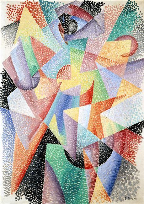 Dynamisme de formes- lumières dans l'espace. Gino Severini, 1913 -16.