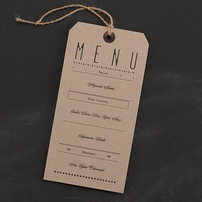 Typography Tags - Menu Card - Wedding Menu Ideas - Wedding Menu Cards - Menu Cards Wedding