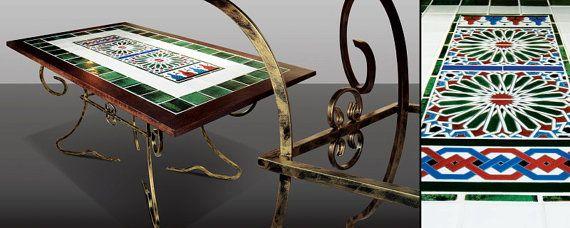 VERDE SEVILLA tile table by Cherrypl on Etsy
