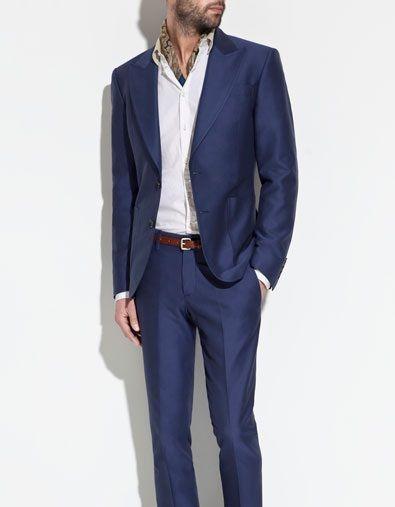 Sharkskin blue suit, kinda cool