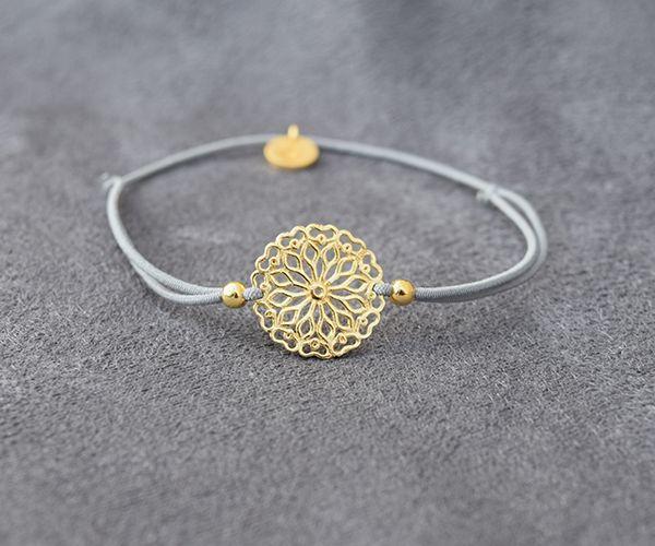 Vergoldete Armbänder - mandala twist 925 silber vergoldet - ein Designerstück von Lilienglueck bei DaWanda